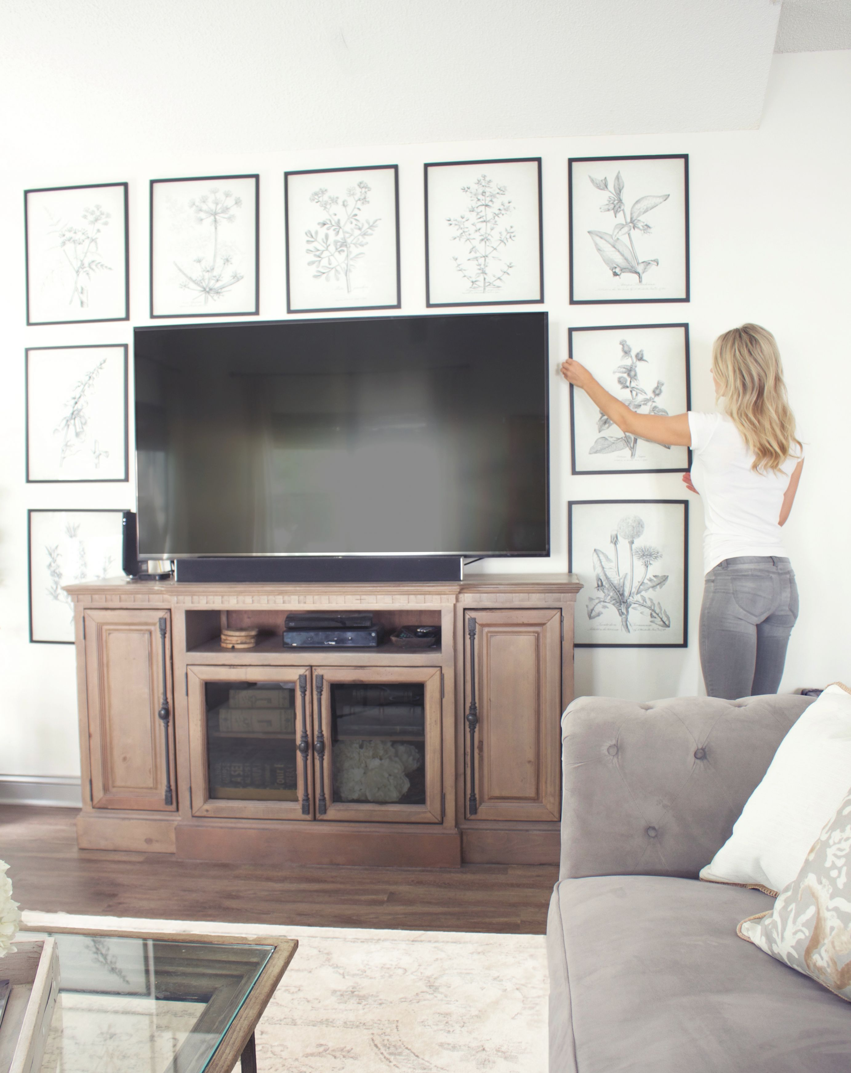 8 Creative Ways To Decorate Around Your Tv - Tuft & Trim throughout Lovely Modern Living Room Tv Wall