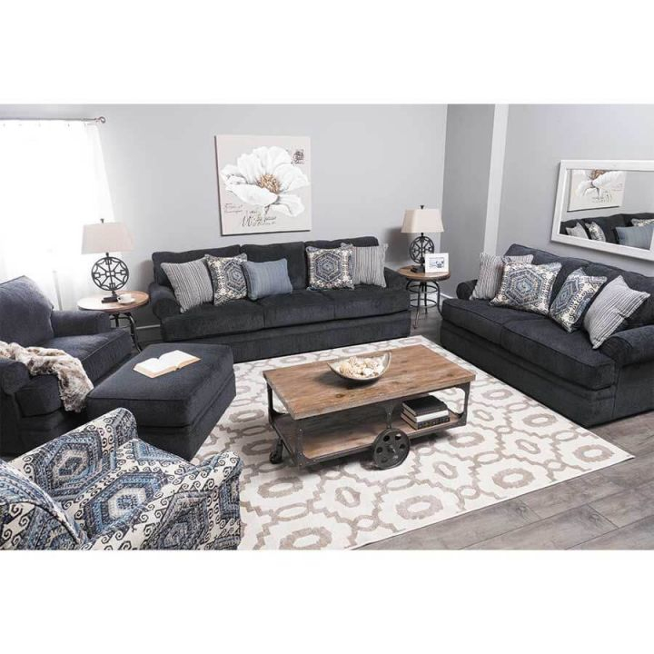 8530 Bellamy Slate Sofa And Loveseatsimmons in Unique Living Room Sets