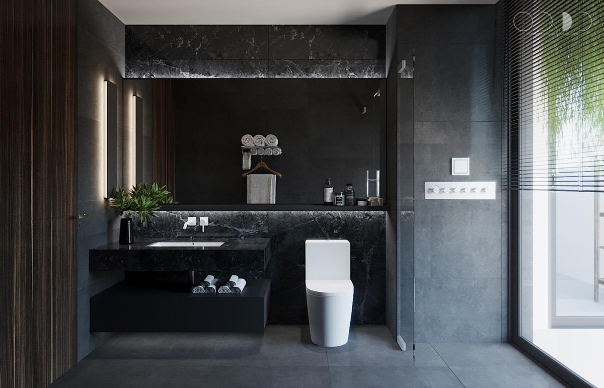 Black-master-bathroom