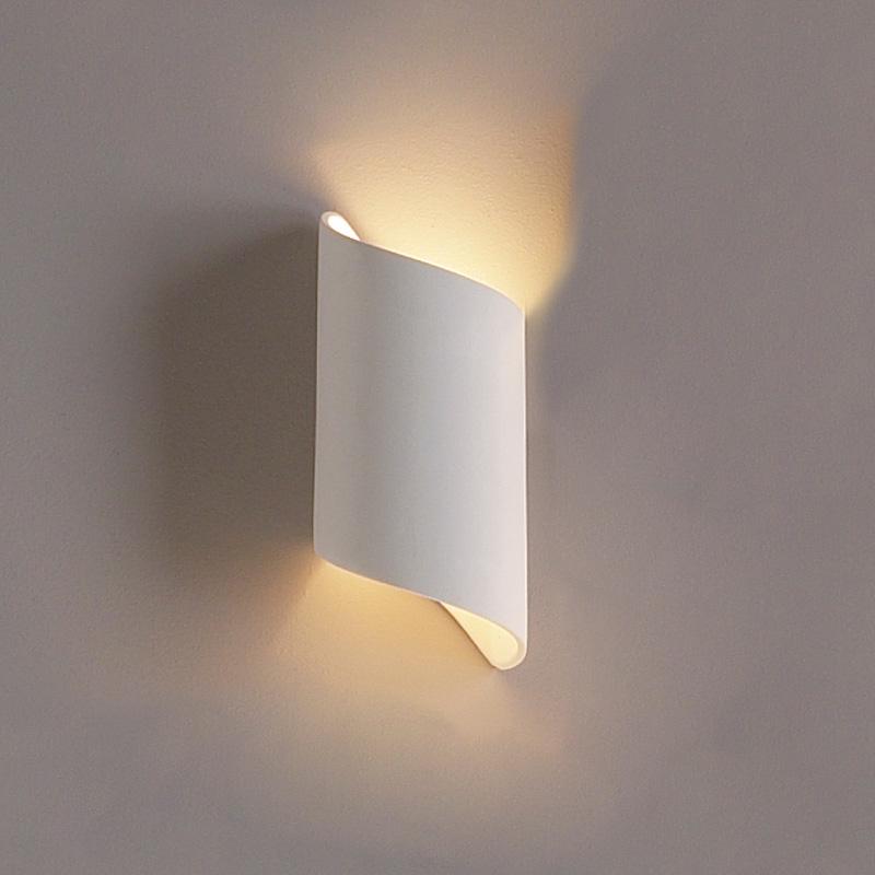 Cylindrical-Ribbon-Wall-Light-Ceramic-White-Mountable-Minimalist
