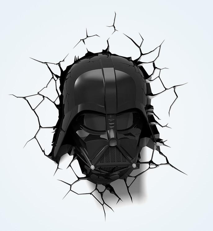 Darth-Vader-Wall-Light-Hemet-Breaking-Through-Wall-Star-Wars-Decor-Ideas