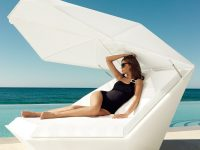 Futuristic-Chaise-Lounge-With-Parasol-Luxury-Unique-Large-Angular-Edgy-Modern