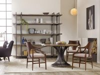 Industrial-Style-Round-Dining-Table-With-Pedestal-Base-Wood-And-Metal-Furniture-Modern