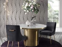 Lux-Style-Round-Pedestal-Dining-Table-White-Marble-Top-And-Chunky-Gold-Base