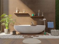 Master-bathroom-with-pebble-floor-1