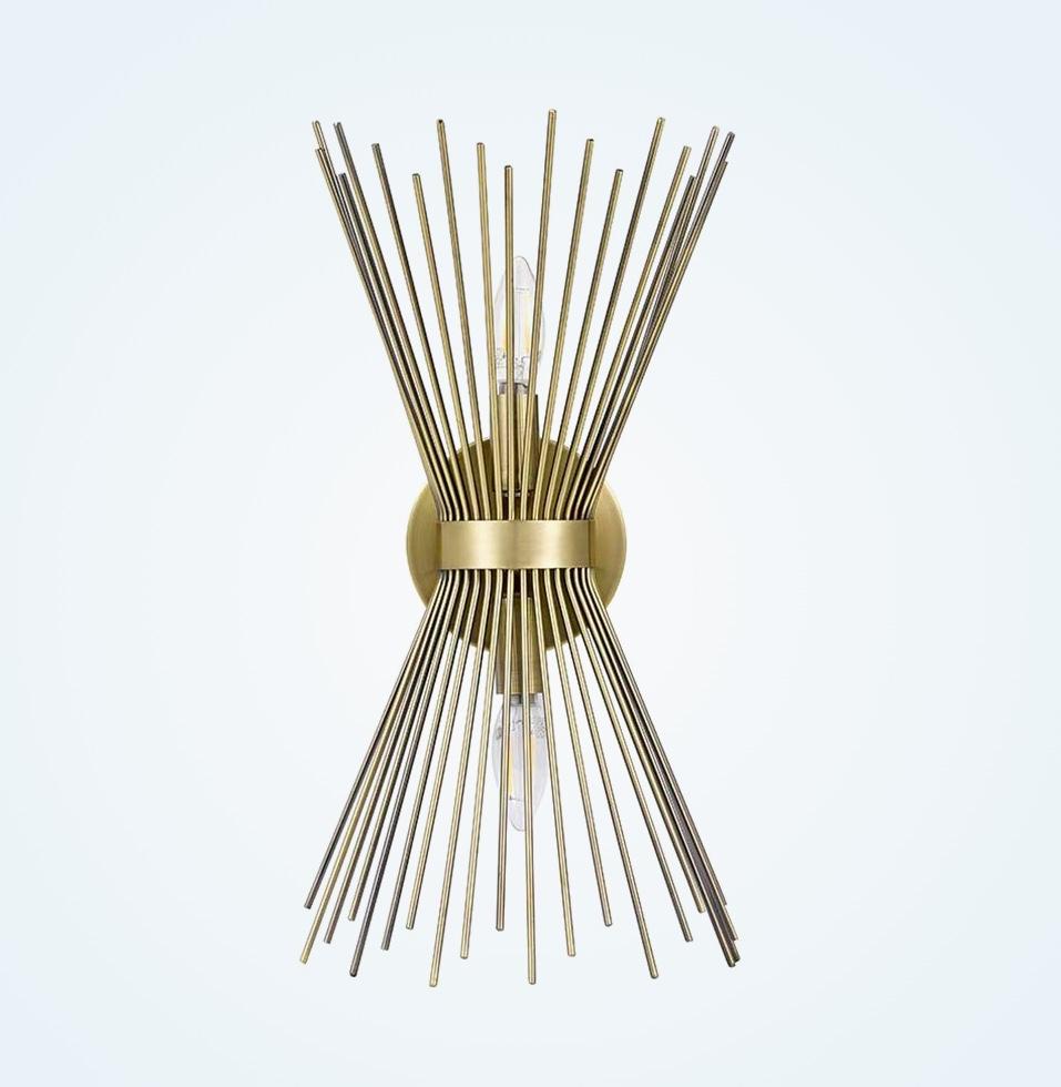 Mid-Century-Modern-Sculptural-Starburst-Wall-Light-Sconce-Brass-Gold