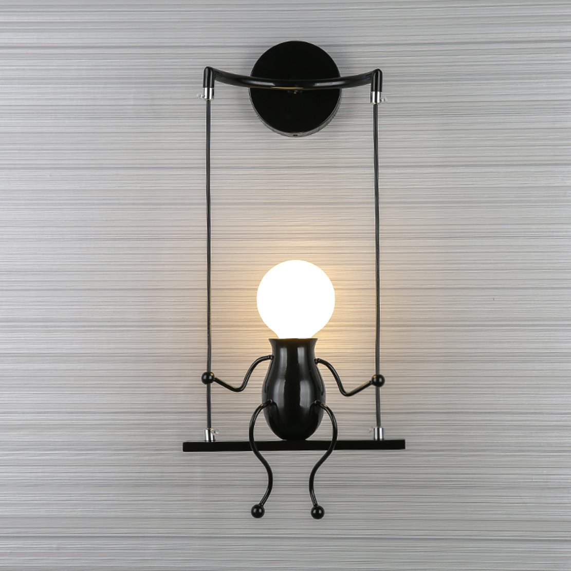 Mini-People-LED-Lamp-Man-Sitting-On-Swing-Lamp-for-Wall
