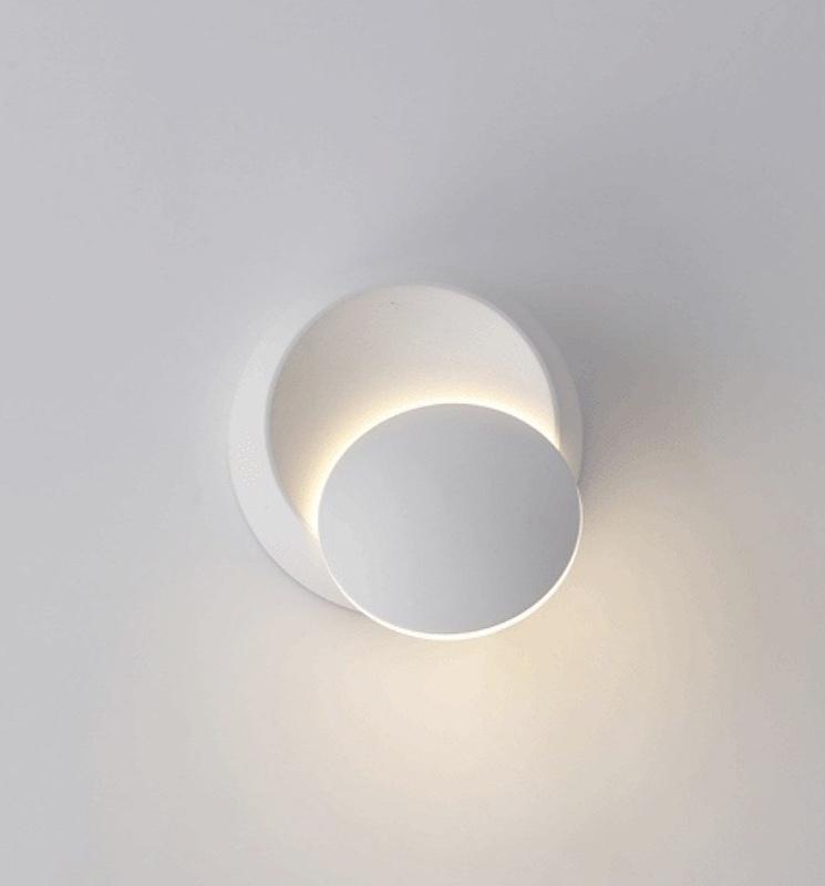 Modern-Minimalist-Circular-Wall-Light-White-Simple-Sun-Eclipse-Decor