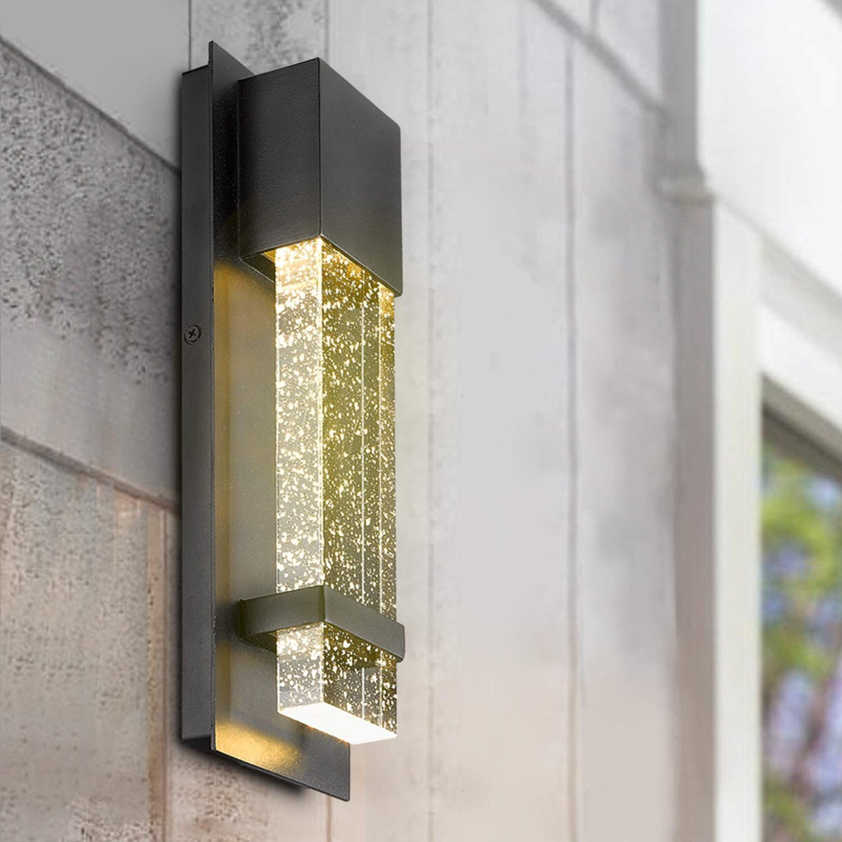 Modern-Minimalist-Outdoor-Wall-Lamp-With-Bubble-Glass-Champagne-Light
