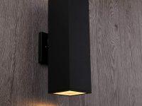 Modern-Outdoor-Wall-Sconce-Black-Matte-Finish-Rectangular-Box
