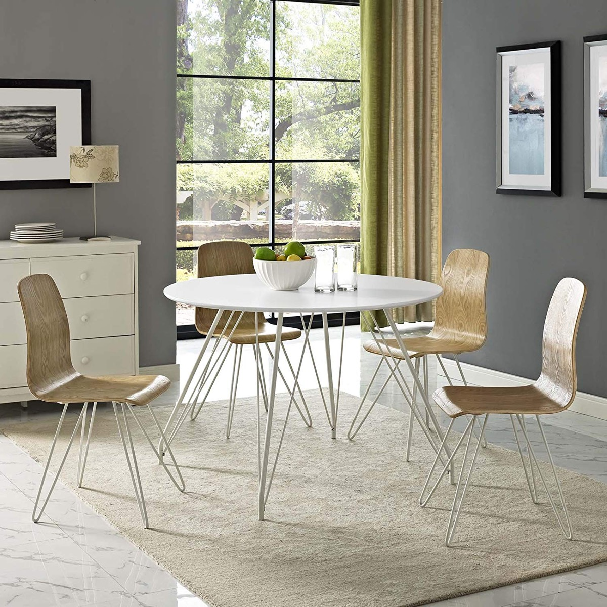 Modern-Round-White-Dining-Table-With-Hairpin-Legs-Mid-Century-Modern