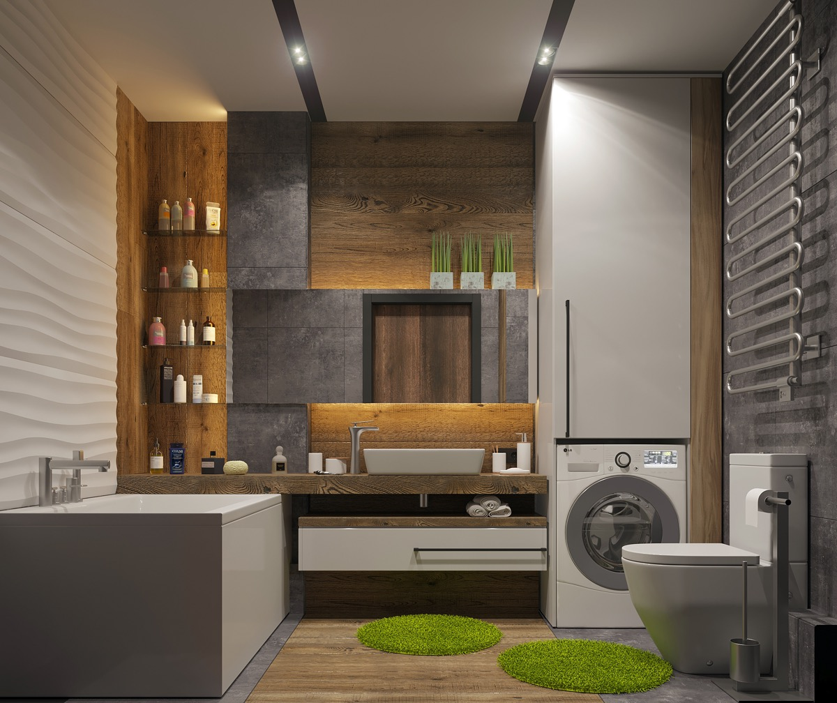 Modern-bathroom-utility-room-combo