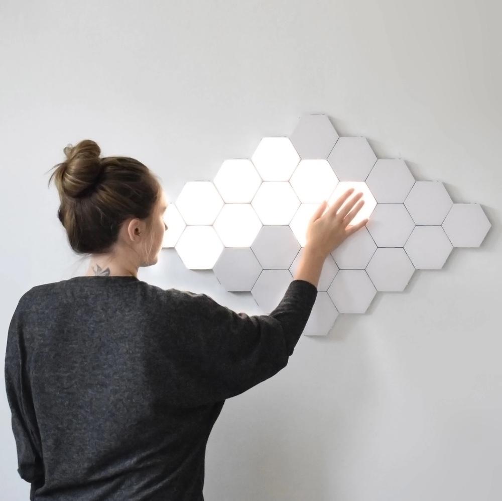 Modular-Touch-Sensitive-Wall-Lights-Hexagon-Rearrangable-Modern-Fun-Unique