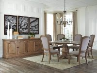 Round-Antique-Style-Dining-Table-For-6-Large-Dining-Room-Seating-Ideas