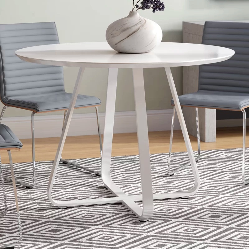 Round-High-Gloss-Lacquer-Dining-Table-Glossy-White-Eat-in-Kitchen-Table