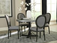 Round-Metal-Dining-Table-With-Pedestal-Base-And-Silver-Top-Modern-Furniture-Ideas