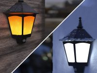 Solar-Wall-Light-Traditional-Style-Black-Wall-Mountable-Outdoor-Lantern