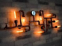 Steampunk-Style-Pipe-Light-Large-Wall-Light-Metal-Unique-Industrial-Style