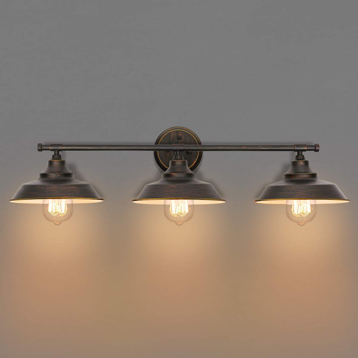 Traditional-Bathroom-Vanity-Wall-Lights-With-Bronze-Shades-And-Edison-Bulbs