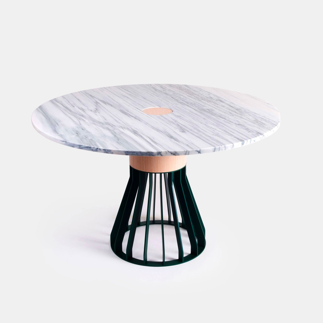 Ultra-Luxury-Round-Dining-Table-With-White-Marble-Top-Premium-Materials