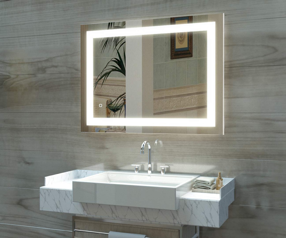 Wall-Mirror-With-Light-Strip-Anti-Fog-Dimmable-Touch-Button-Contemporary