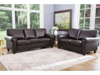Abbyson London Brown Top Grain Leather 2 Piece Living Room Set intended for Awesome Leather Living Room Sets