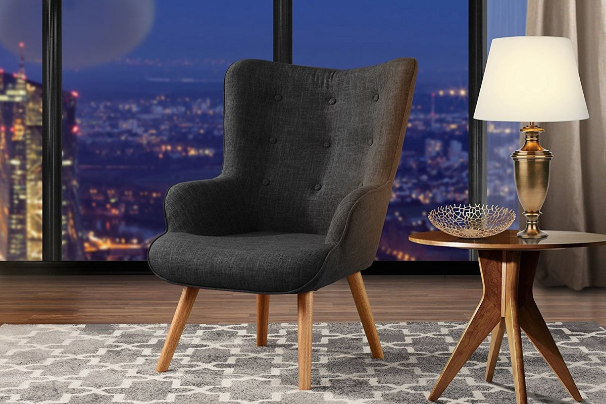 Accent Chair For Living Room Upholstered Linen Arm Chairs