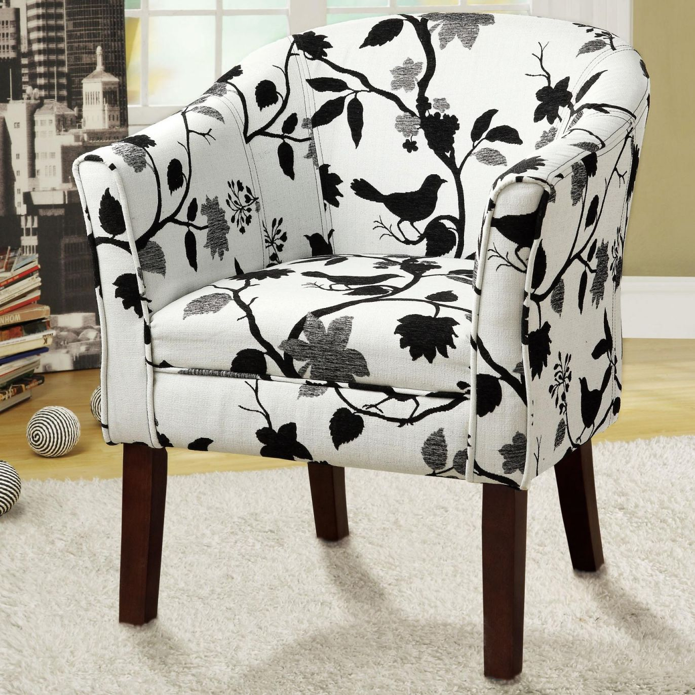 Accent Seating Upholstered Accent Chaircoaster At Dunk & Bright  Furniture within Best of Living Room Furniture Accent Chairs