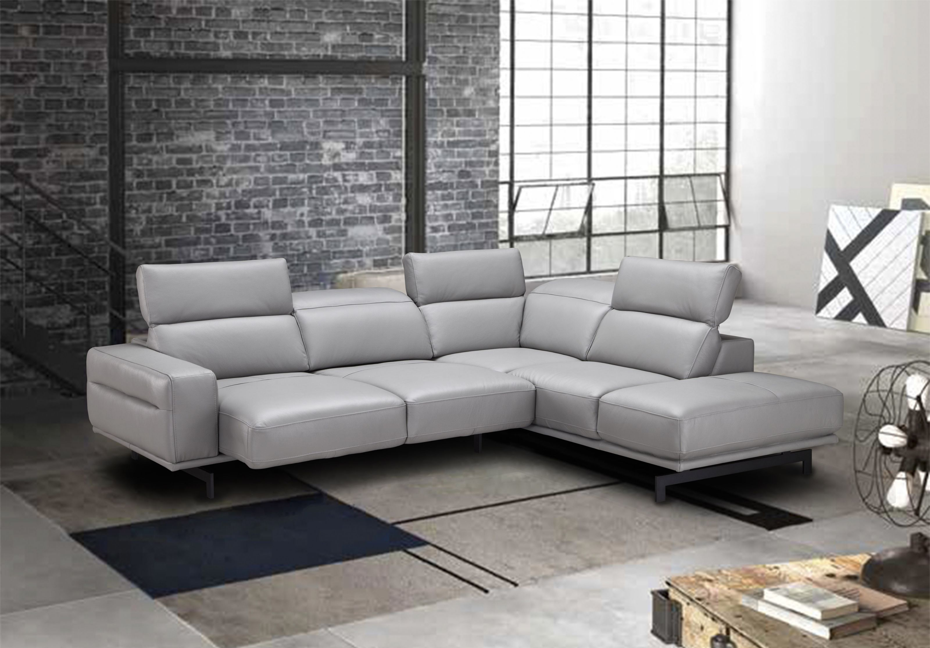 Adjustable Advanced Italian Top Grain Leather Sectional Sofa Houston with regard to Leather Sectional Sofa