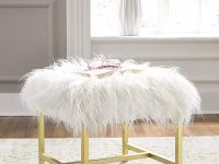 affordable-faux-fur-vanity-stool-with-gold-base-luxury-design
