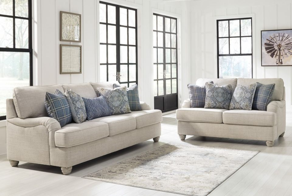 Ashley Furniture Traemore Living Room Set In Linen with regard to Living Room Sets