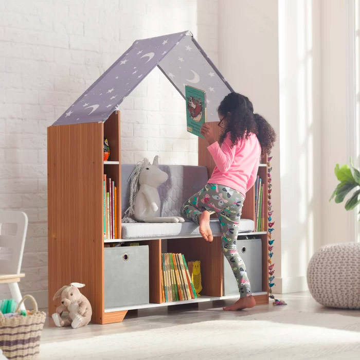 bedroom-bench-with-storage-kids-castle-bookshelf-with-tent-roof
