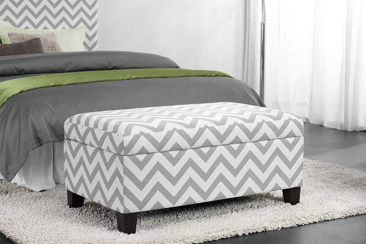 bedroom-storage-bench-with-grey-and-white-chevron-upholstery-modern-design