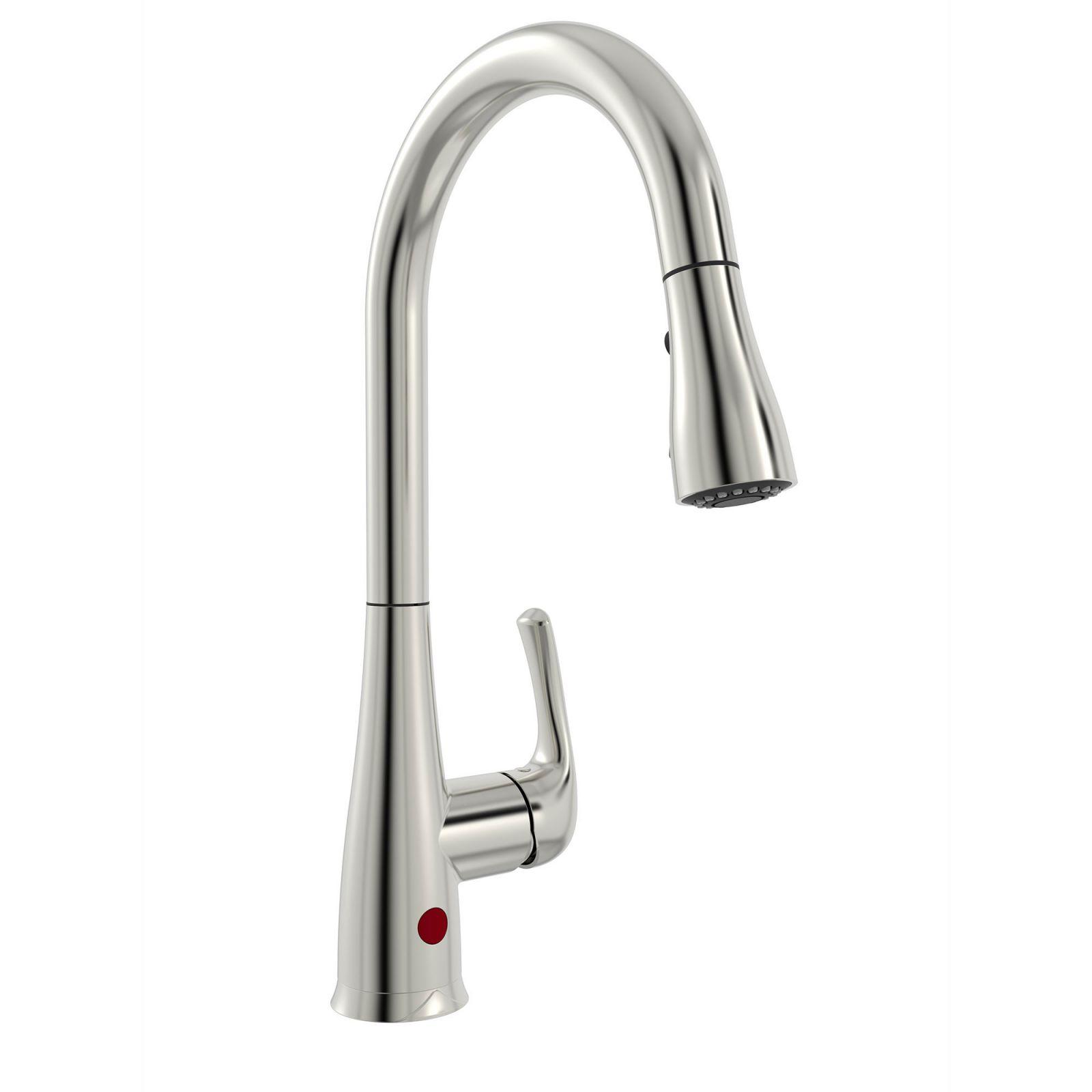 Belanger Nex76Cbn Pull Down Touchless Single Handle Kitchen Faucet In Brushed Nickel regarding New Touchless Kitchen Faucet