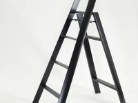 black-metal-step-stool-four-step-aluminum-stylish-for-modern-homes