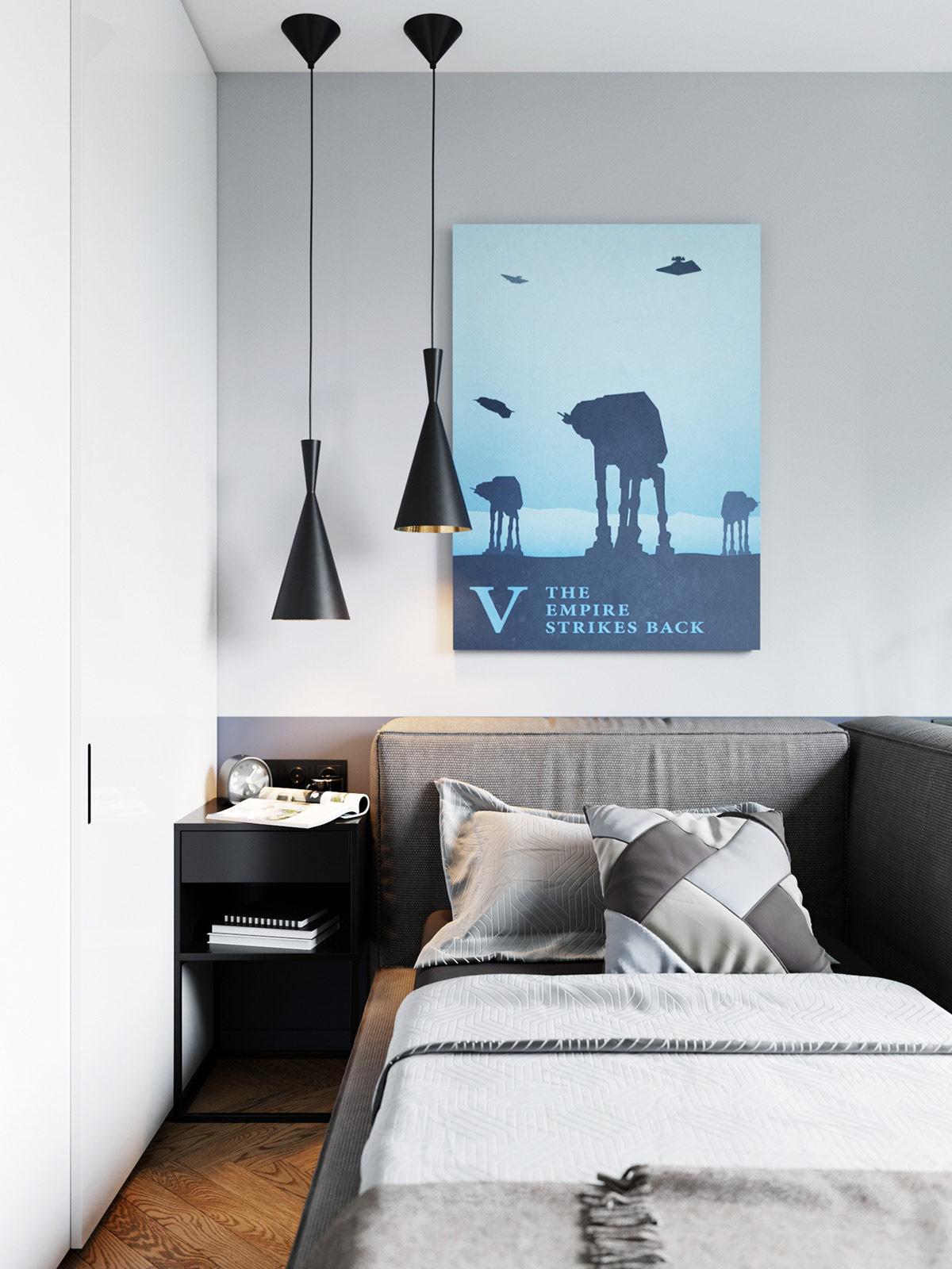 black-modern-bedside-pendant-lamp-inspiration