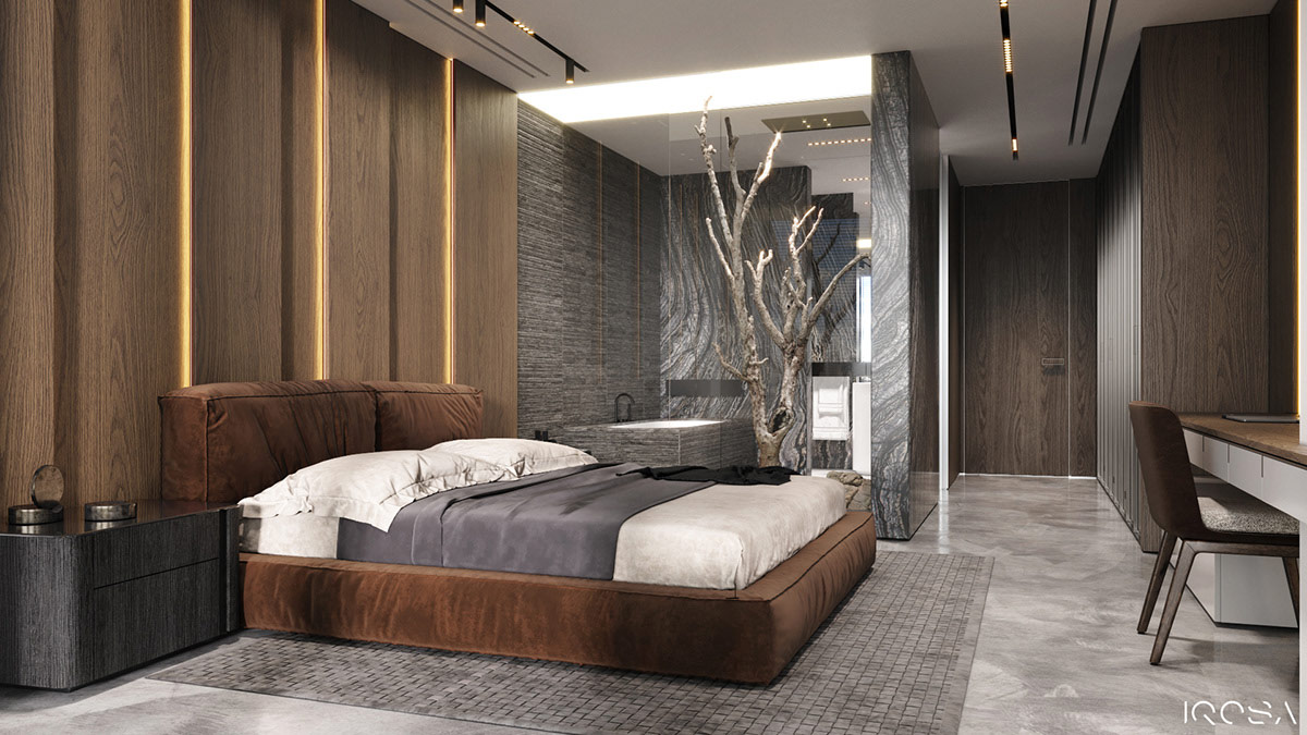 brown-platform-bed