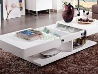 Burlington White Coffee Table Living Room Furniture | Xiorex with regard to Luxury Living Room Table
