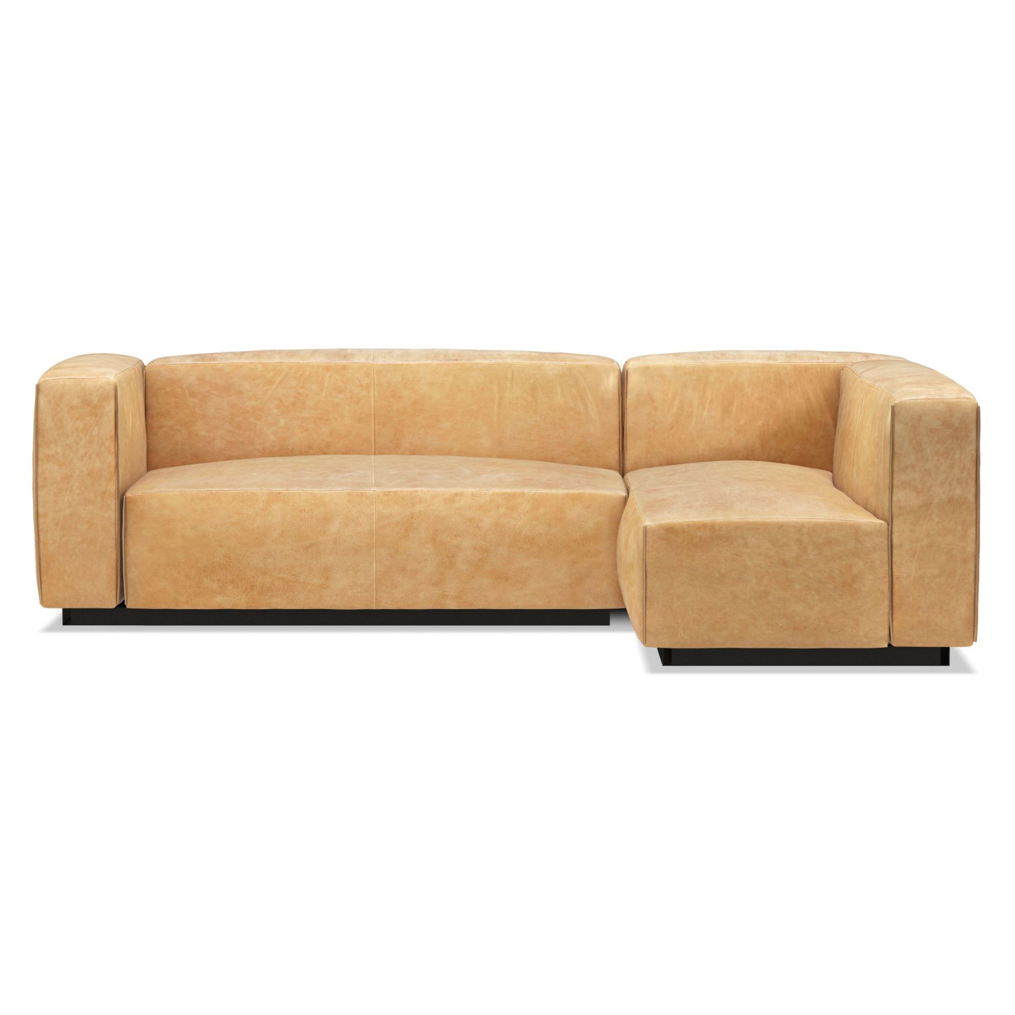Cleon Small Leather Sectional Sofa | Allmodern pertaining to Best of Leather Sectional Sofa
