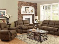 Coaster Sir Rawlinson Coated Microfiber Motion Living Room Set In Brown throughout Fresh Living Room Table Sets
