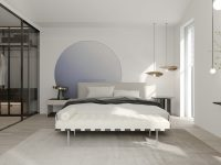 contemporary-luxury-bedroom-with-metallic-accents-and-green-marble-lamp