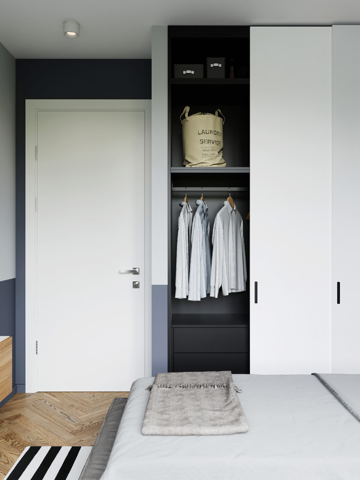 contemporary-sliding-door-bedroom-closet-organization-ideas