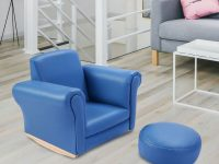 Costway Blue Kids Sofa Armrest Chair Couch Childrens Living Room Toddler Birthday Gift intended for Awesome Chair Living Room Furniture