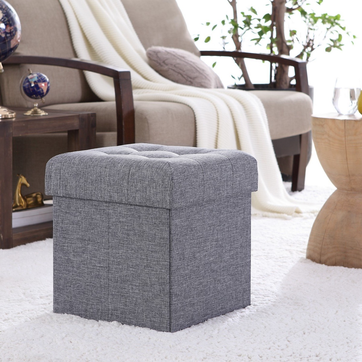 cube-storage-bench-ottoman-with-grey-upholstery-collapsible