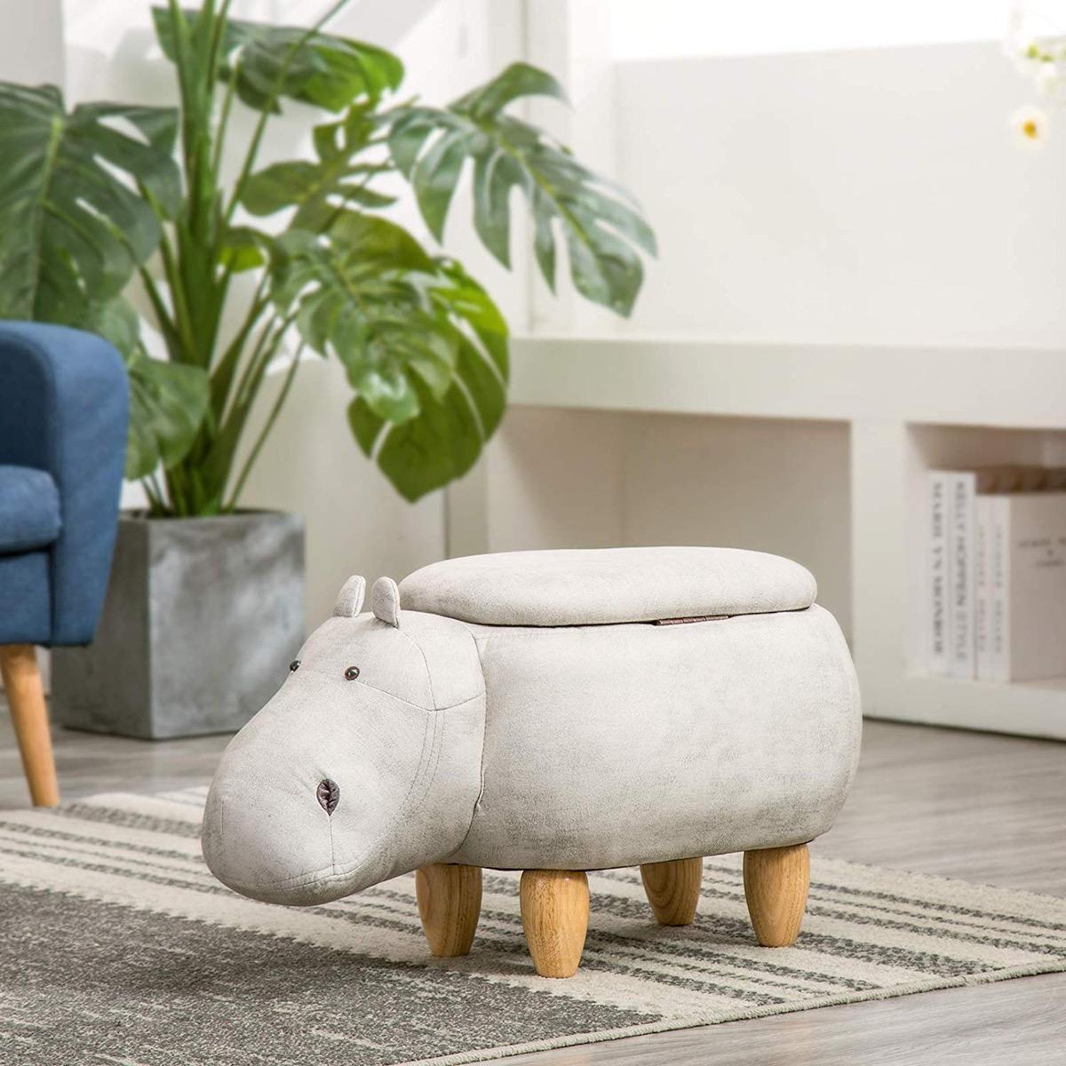 cute-animal-hippo-shaped-ottoman-kids-seat-with-storage
