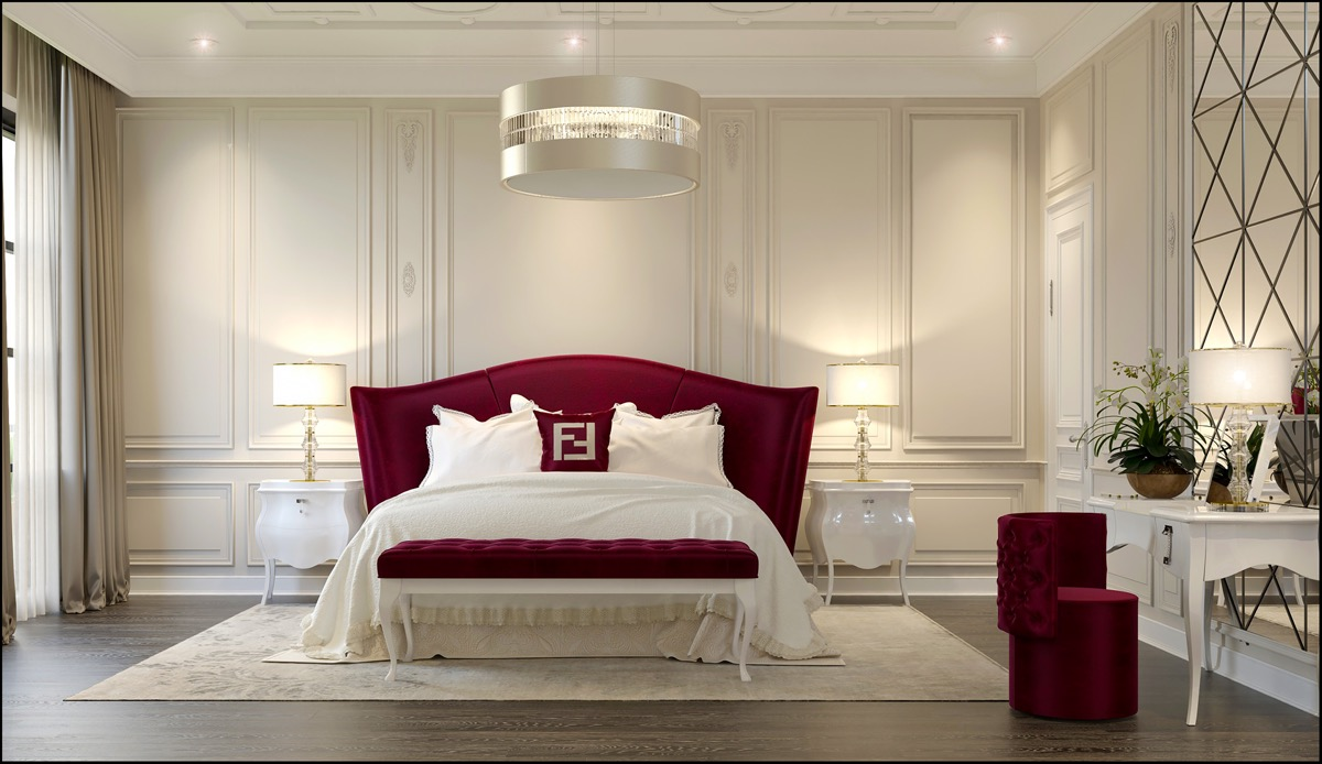 dark-red-transitional-style-bedroom-color-theme-ideas