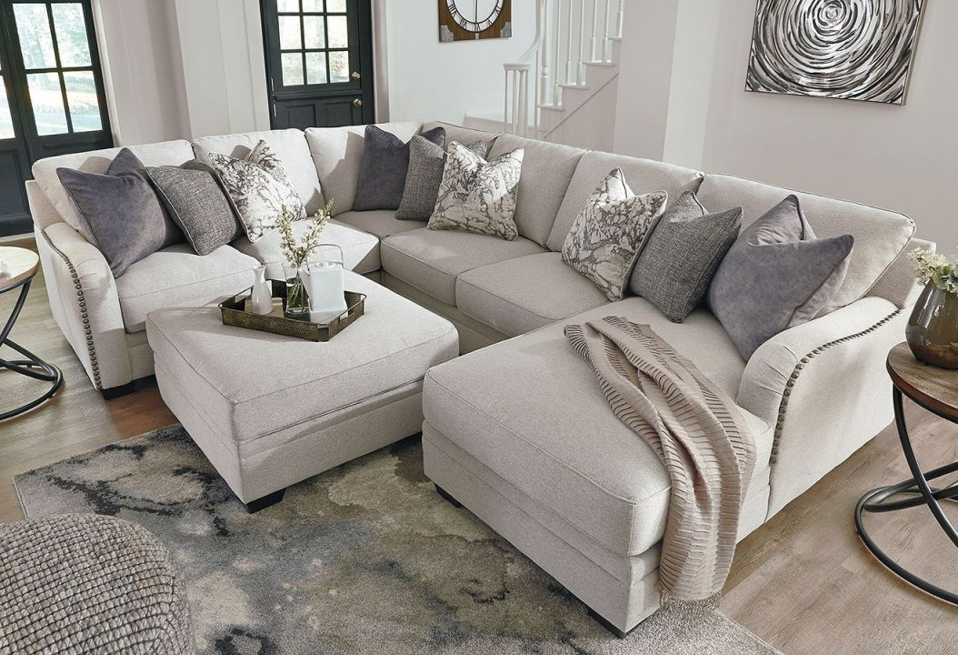 Dellara Chalk Modular Sectional Set with Chair Living Room Furniture
