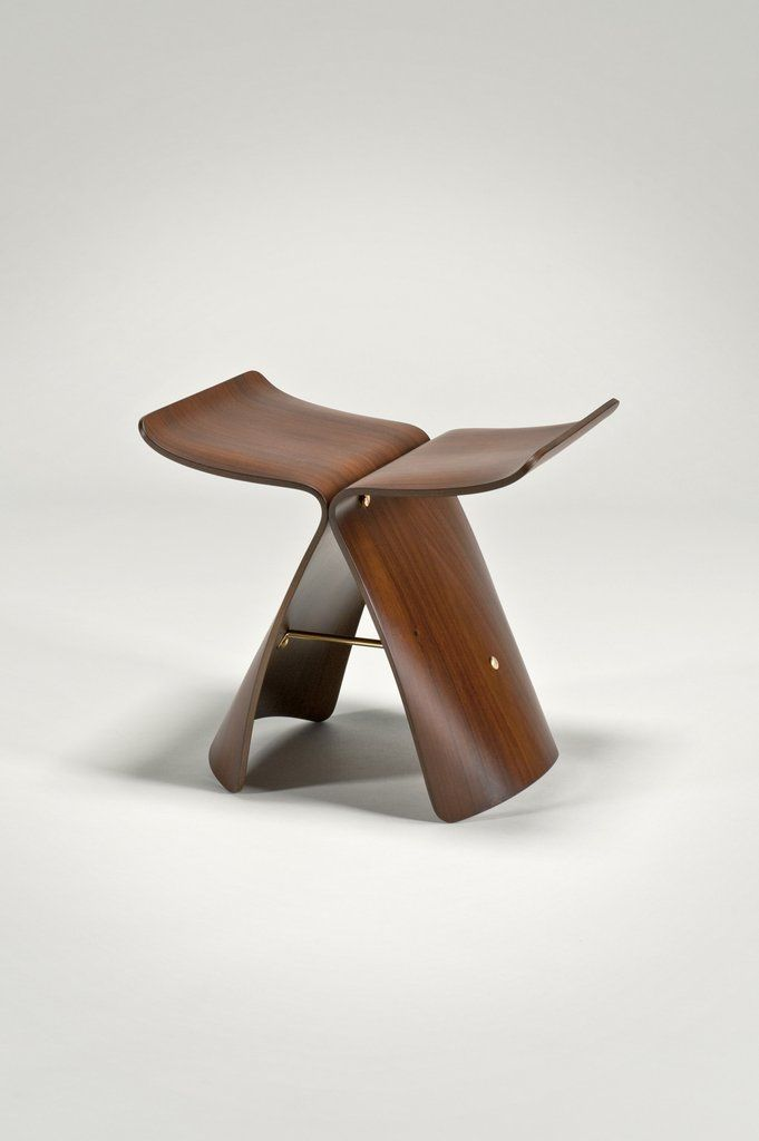 Surprising Designer Wood Vanity Stool Japanese Design By Sori Yanagi Cjindustries Chair Design For Home Cjindustriesco