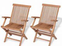 Details About 2 × Teak Garden Patio Chairs Wooden Folding Armchiar Seats Outdoor Furniture Set with Teak Outdoor Furniture Set