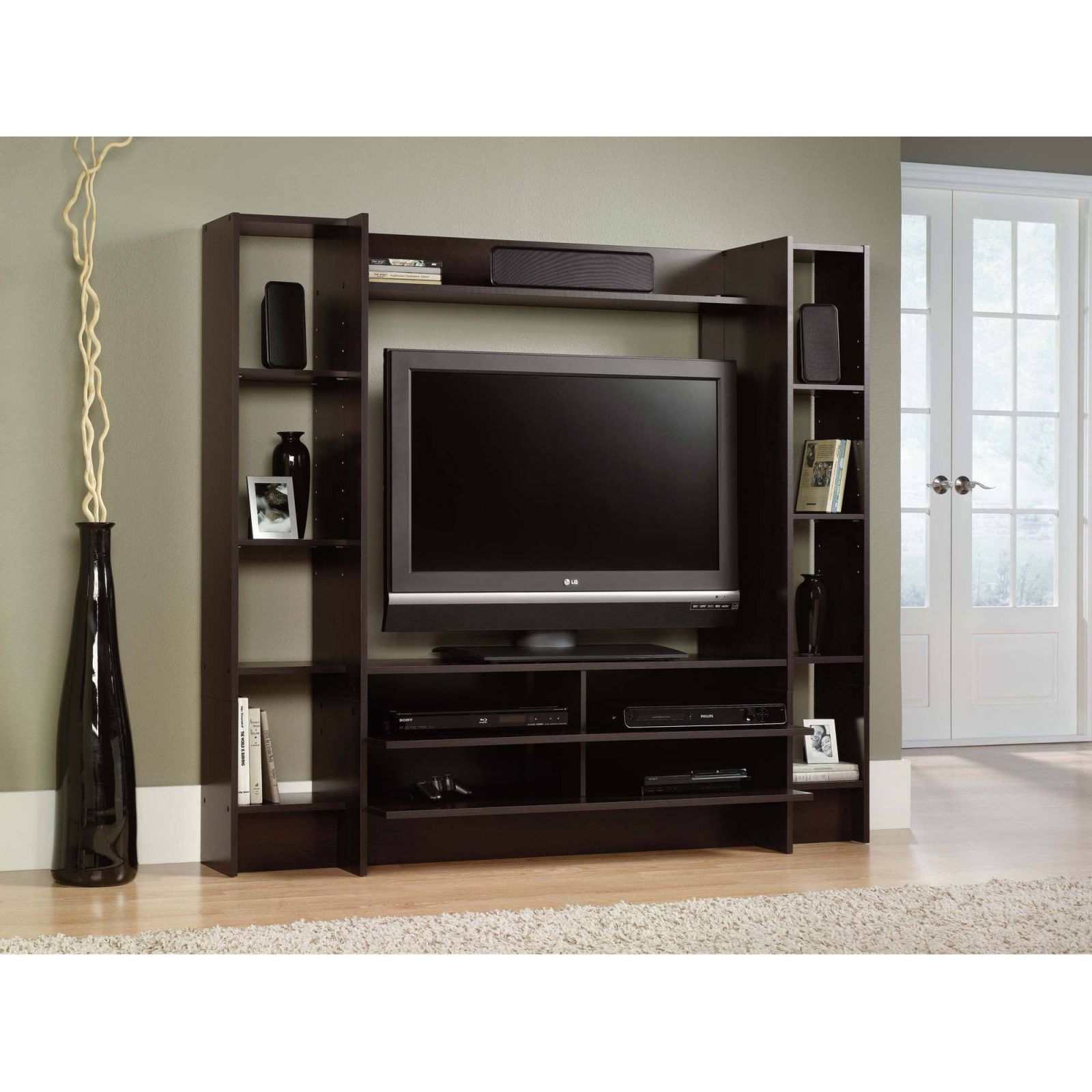 Details About Home Entertainment Center Wood Storage Cabinet Tv Stand Console Media Furniture throughout Furniture Tv Stands